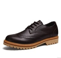 fashionable genuine leather mens Black/Brown tan dress shoes business casual shoes mens wedding shoes