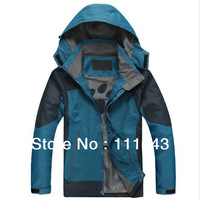 HOT ! Free shipping 2013 autumn New fund.Waterproof, breathable Outdoor, mountain hiking, man jacket coat lining+hood