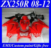 Injection Molded for KAWASAKI Ninja 250R ZX250R ZX250 08 09 10 11 12 EX250 2008 2012 hot red ABS Racing Fairings bodywork KH1
