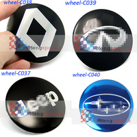 80pcs 20 sets Renault Subaru JEP 3D wheel cneter cap Sticker Badges Emblem 56.5mm