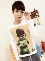Les t long-sleeve t-shirt male autumn slim shirt