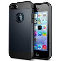 DHL free shipping Ultra Slim SGP Spigen Tough Armor PC+Silicone Hard Case For iPhone 5C 100 pcs/lot