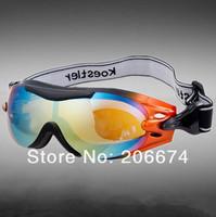NEW 2013 Plastic Windproof Ski Goggles (Orange)+free shipping