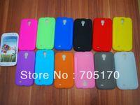 100PCS*cases+100PCS *sceen film ,silicon skin Galaxy S4 case,silicon Case for Samsung Galaxy SIIII S4 i9500