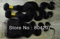 14-24 hair sweft  with 1p lace top closure,top closure hair,lace top closure swiss lace body wave brazilian virgin hair closure