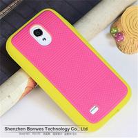 100pieces/lot, Dual Color Anti-skid Design Fit Flexible Silicone Soft Case for Samsung Galaxy S4 mini i9190