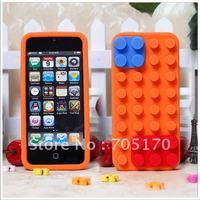 Free Shipping ,New Design  Silicon Cover  Case for iphone 5 ,toy bricks Silicone Case for iPhone 5 5G