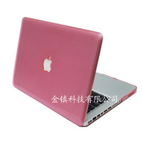"Transparent Hard  Back Free Shipping case for macbook pro 15.4"" shell wholesale crystal  pink"