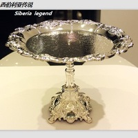 free shipping 3006 Quality derlook . silveriness senior ktv fashion metal fruit plate,metal tray,HOME Decoration