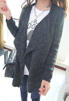 Small y korean ' super wool ingredient irregular trench type sweater outerwear cape