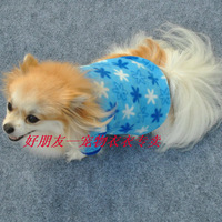 Free Shipping! High Quality Small Pet Dog Autumn Spring Warm Clothes Blue Star Pattern Polar Fleece Coats XS S M L Size