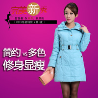 Globalsources medium-long down coat female slim belt winter outerwear casual thermal belt