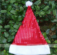 New Arrival Wholesale 5 pcs / lot Retail shiny paillette Christmas Cap Santa Claus Xmas Hat  Christmas supplies