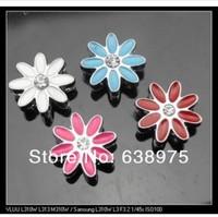 wholesale 100pcs 8mm mixed color Sun Flower Slide Charms