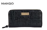 New Fashion Style high quality pu leather zip stone pattern wallt MANGO wallet day clutch women long wallet purses