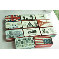 Free ship!11pc!zakka gift storage box / tin jewelry box / tin British style creative home accessories