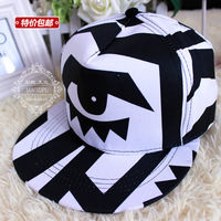 Free shipping to hip hop dance tide graffiti eyes eyeball dead fly skateboard flat brim hat
