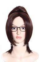 New ! Attack on Titan/Shingeki no Kyojin Hanji Zoe Dark Brown Cosplay Full Wig