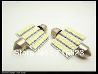 "2pcs/lot 36mm 5/8"" 12V 24 SMD 1210 3528 LED Car Interior Dome AUTO Festoon Bulb Festoon Dome LED Light Bulbs Light free shipping"