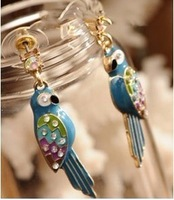 Min.order is $10(mix order)  Fashion accessories tropical jungle . caiyou small parrot earring stud earring  A1253