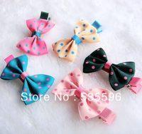 Free Shipping  2013 New Kids/Girl/Princess/Baby Ribbon Bow Metal Snap hairclips barrettes hairpins  hair accesories