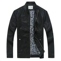 Free shipping Top men jacket coat autumn fashion jacket outerwear leather clothing