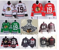 Cheap Chicago Blackhawks Hockey Jerseys #19 Jonathan Toews Jersey with 2013 Stanley Cup Finals Emblem Patch Free shipping