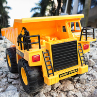 Boy child large scale remote control engineering car;big wireless radio controlled,rc 4wd brushless plastic lorry dump truck toy