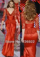 The Most Beautiful Sheath Mermaid Lace Zuhair Murad Evening Dress 2013 New Arrival Customsize Free Shipping