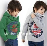SHT195 Retail children's winter sets Boys Hoodies Long Sleeve winter Hoodies kids coat Tops Children Coat 2-6yrs Free Shipping