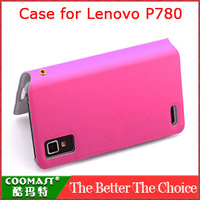 Free Shipping 1PCS 100% original  Leather Case for Lenovo P780