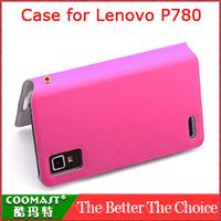 Free Shipping 1PCS 100% original  Leather Case for Lenovo P780