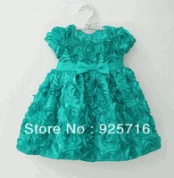 blue dress hot in stock  party dresses,beautiful  with casual dress for party full of flowers
