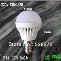 Free shipping 1pcs High brightness LED Bulb Lamp E14 2835SMD 3W AC220V 230V 240V Cold white/warm white
