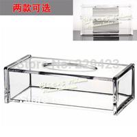 Fashion transparent acrylic 26.7*13*8.5cm  tissue box  crystal pumping paper box