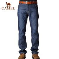 Camel men's clothing thermal thick velvet jeans casual jeans trousers;hotselling ,for winter,in stock