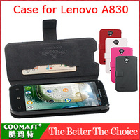 Free Shipping 1PCS 100% original  Leather Case for Lenovo A830