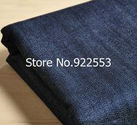 free shipping 150cm width Dark blue thick denim / cotton pants Fabric / Fabric