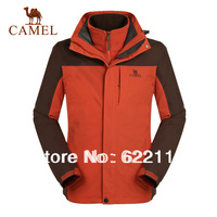 freeshipping Camel outdoor male thermal twinset 3f30003 three-in -one outdoor jacket ,sportwear twinset,in stock