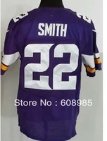 Free Shipping 2013 NEW Minnesota Harrison Smith #22 On-Field Football Jersey Authentic Elite Double Stitched Jerseys, Mix Order