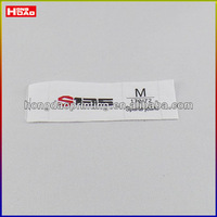 high quality garment size cotton label
