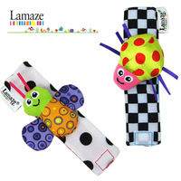 Free shipping new item (4 pcs/lot) Lamaze baby rattle toys cute Garden Bug Wrist Rattle and Foot Socks-009
