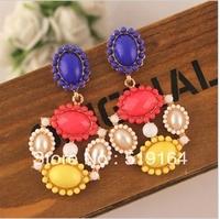 Free Shipping!New Arrival Fashionable Colorful Acrylic Elegant Retro Earrings