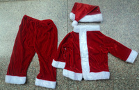Christmas gift Christmas decoration quality gold velvet christmas clothing for baby 1 - 2 christmas set