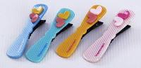 Freeshipping- Popular Style Baby accessories,Girls jewelry, lovely hair clips, Double hearts hair clip 20pcs/lot JH6210