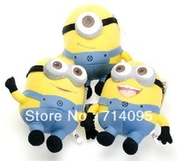 "Hot selling 3pcs/lot Despicable ME Minions soft Toy 10"" 25cm Jorge Stewart Dave with tags plush toy cute gift for child 3D eyes"