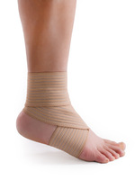 Double high-elastic sports bandage spirally-wound ankle support elbow a pair of dual-use