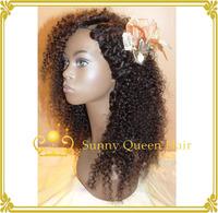 Brazilian kinky curly wig,human hair u part wigs for black women free shipping