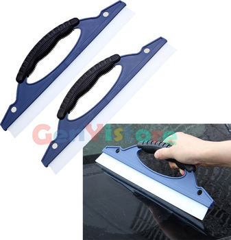 Soft Silicone Car Window Wash Cleaning Brush Cleaner Ergonomic Wiper Antislip Squeegee Drying Blade