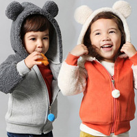 2013 Autumn and winter style boys clothing girls clothing baby child with a hood outerwear